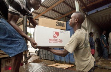 Shipments of supplies provide the team on the ground with needed items