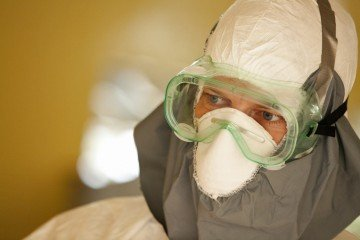 Medical personnel must wear protective gear to work with patients