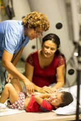 Treating patients at our field hospital in Ecuador