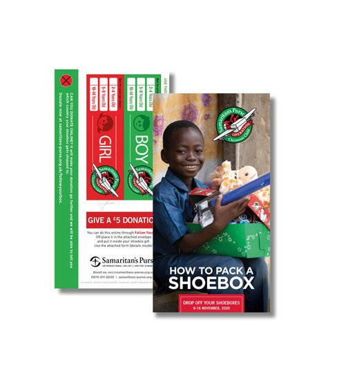 How to pack Your Shoebox leaflet