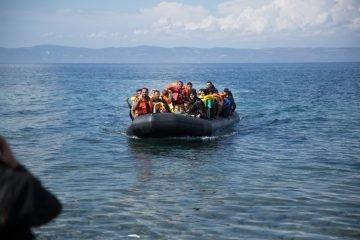 Refugees arrive on Lesbos Island