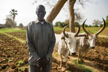 Bul Bul received a plow to help him cultivate his land.