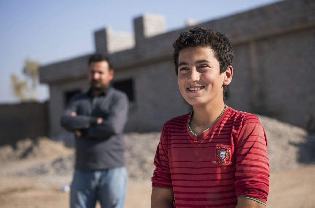 Ahmed wants to be a doctor when he grows up.  He wants to serve people and his nation. His father wants him to learn and grow up in peace. His school and village were destroyed by ISIS.