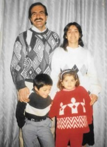 Dania with her family