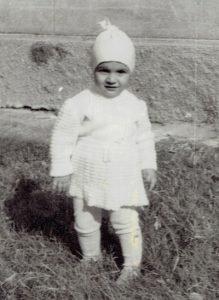 Olesea as an infant