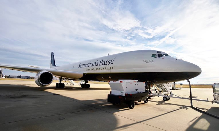 OUR DC-8 DEPARTED FROM GREENSBORO, NORTH CAROLINA, HEADED TO BANGLADESH TO DELIVER MEDICAL EQUIPMENT AND SUPPLIES. IT LEFT 7th DEC AND IS SCHEDULED TO ARRIVE 10th DEC.