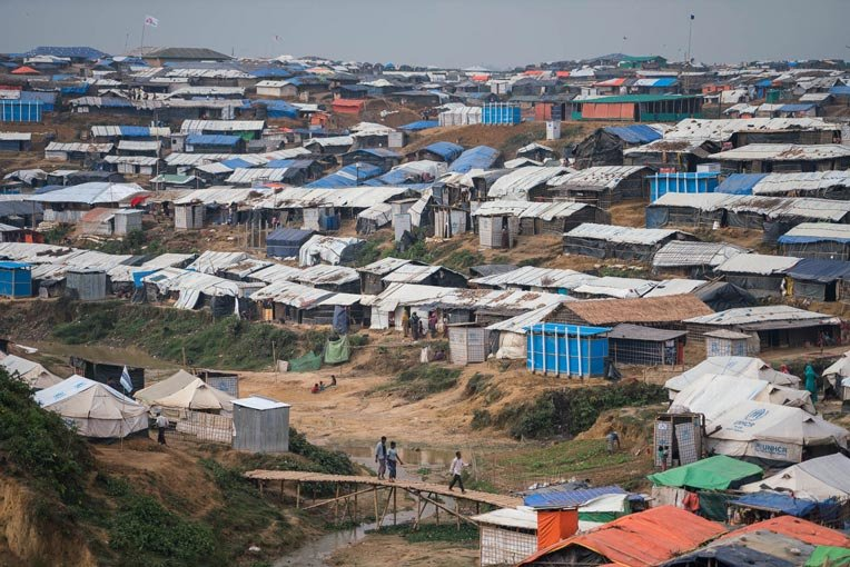 Thousands of Rohingya families have poured into Bangladesh.