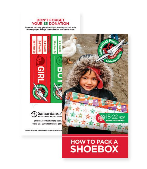 How to pack a shoebox leaflet