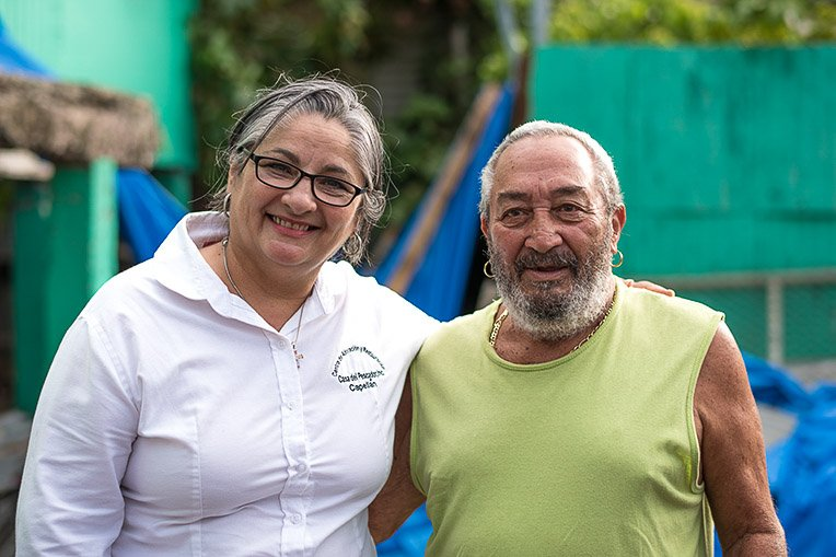 Pastor Aida Hernandez of The House of the Fisherman and members of the church reached out to Patricio Palermo and shared the Gospel of Jesus Christ.