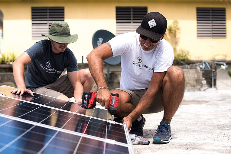 Samaritan's Purse is installing 100 solar energy relief systems throughout the Yabacoa region on the Southeastern coast—the last municipality to receive electrical power on the island.