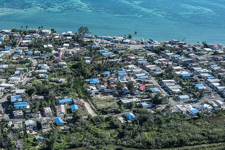 As another hurricane season nears, homes across Puerto Rico still bear the blue roofing tarp that Samaritan's Purse installed following Hurricane Maria.