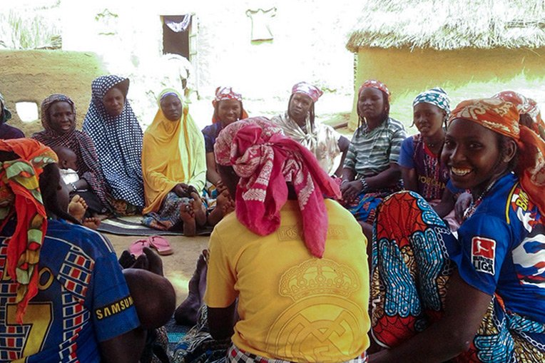 Women gather for Samaritan's Purse agriculture training in a rural village in Niger.