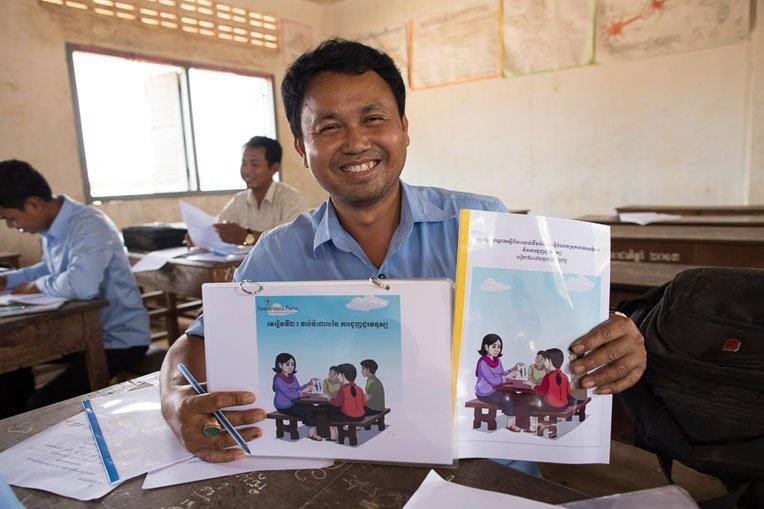 Saroeun is grateful to Samaritan's Purse for helping keep his students safe from exploitation.