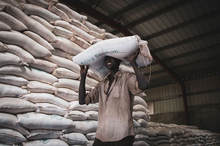 Food rations can feed a refugee family for up to one month