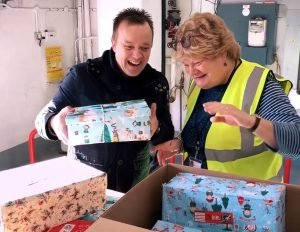 Collecting shoeboxes