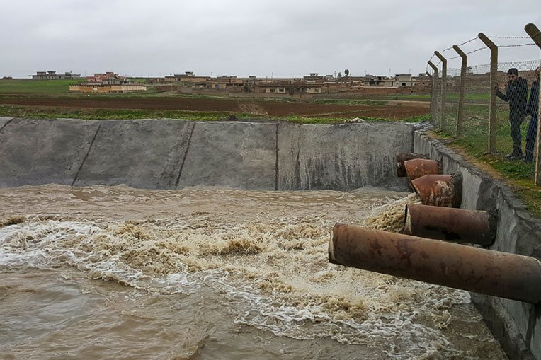 Water is flowing in the Al Zab irrigation system again after years without functioning.