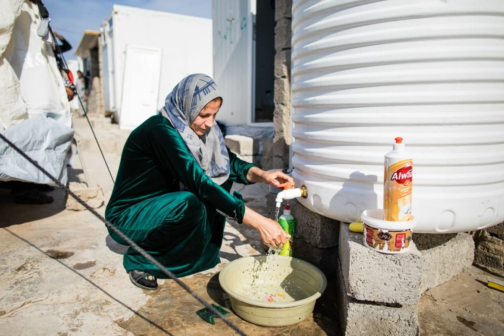 Yekta now has reliable access to water since Samaritan's Purse provided 500-liter tanks to store the precious resource.