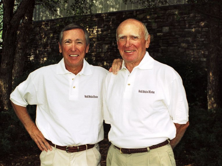 Lowell Furman (1932-2006) and Richard Furman (left), who remains actively involved with World Medical Mission today.