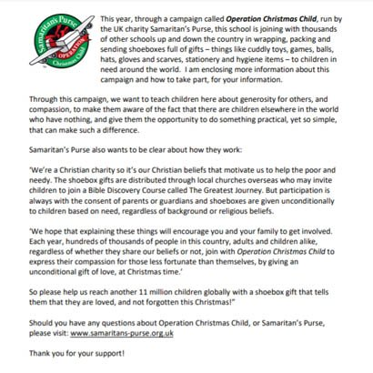 Parent introduction letter to OCC