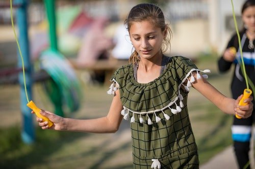 A skipping rope at the playground is a lot of the children's favorite activity.