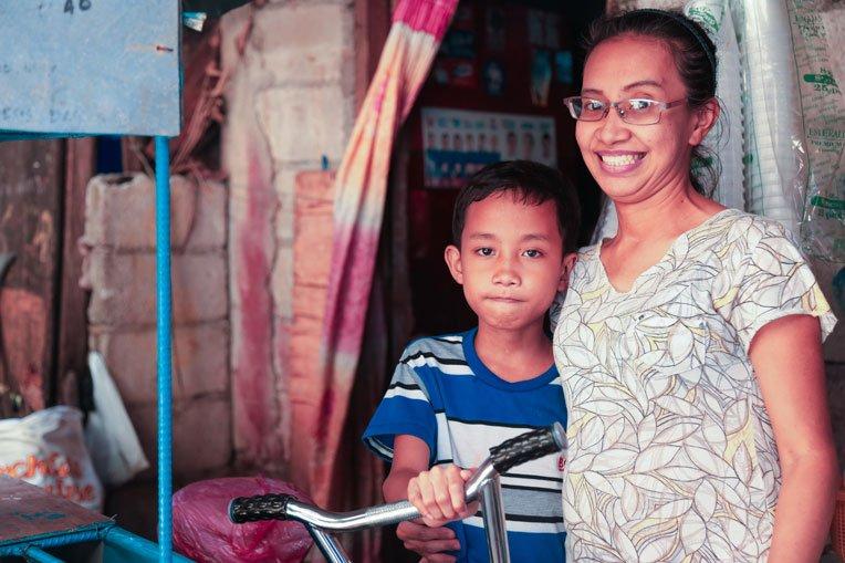 Bernadette is more patient with her children after receiving Jesus Christ as her Saviour.