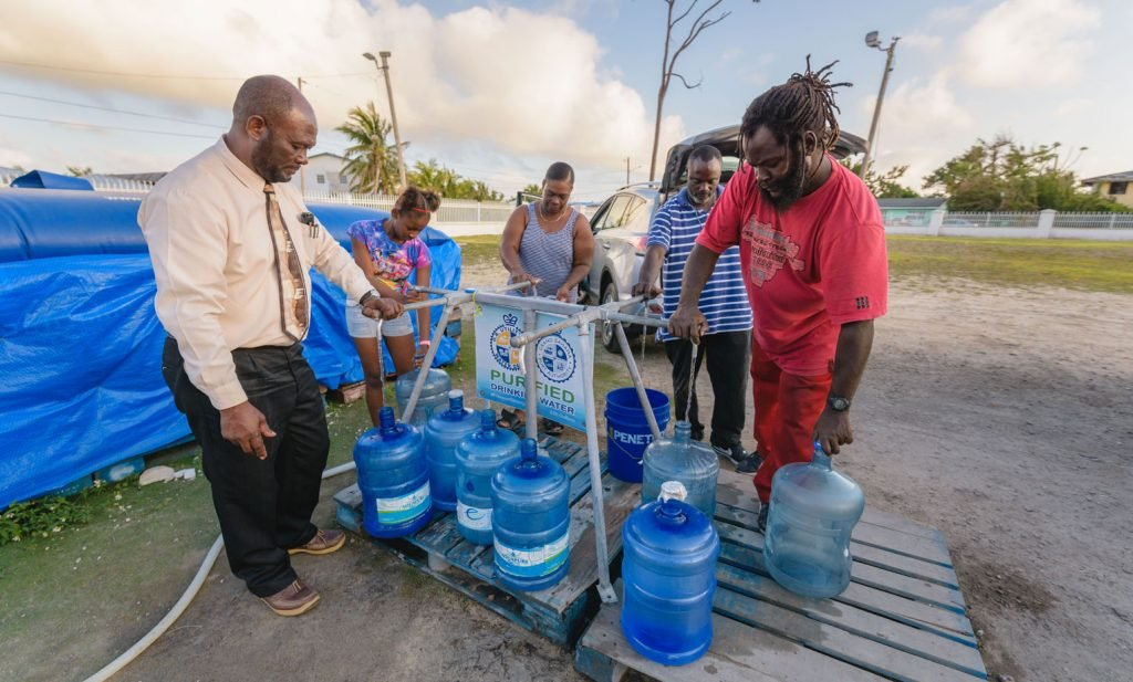 The Freeport, Grand Bahama, community appreciates receiving freshwater from Samaritan's Purse at nine different points around the city since Hurricane Dorian compromised their water supply.