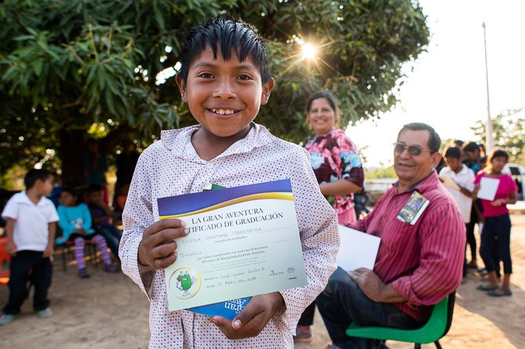 MAURICIO IS ONE OF NEARLY 80 CHILDREN IN THE REMOTE MOUNTAIN VILLAGE OF LA LAGUNA, MEXICO, WHO HAVE GRADUATED FROM THE GREATEST JOURNEY AND ARE SHARING GOD'S WORD WITH THEIR FAMILIES.