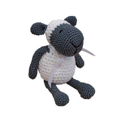 B&W crochet bobble sheep