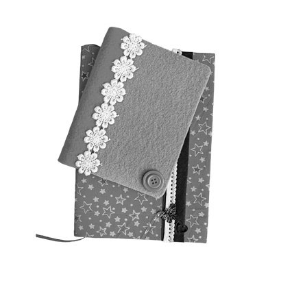 Fabric Covered Notebook B&W