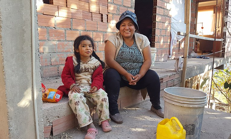 Lilian and her daughter live in a mountain community in Bolivia.