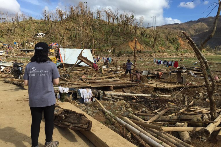 Thousands of homes were destroyed in the Philippines.