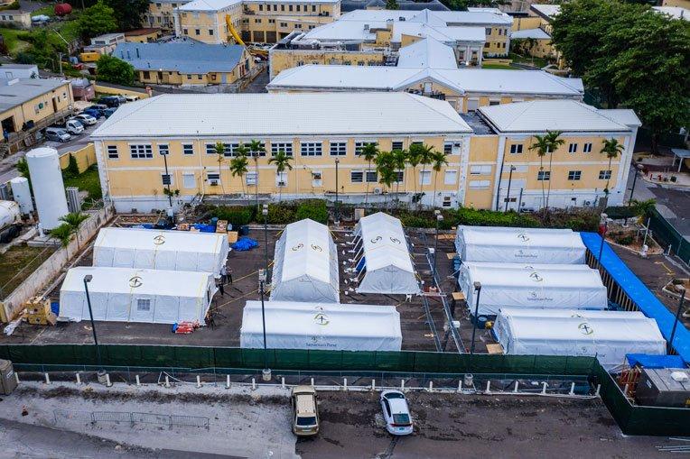 Our facility is set up adjacent to Princess Margaret Hospital in Nassau.
