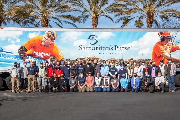 Our team together with Franklin Graham at the California Emergency Field Hospital.
