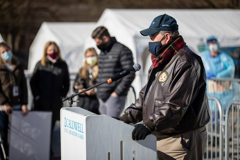 Lenoir Mayor Joe Gibbons expressed his gratitude for the work of Samaritan's Purse around the world and in North Carolina.
