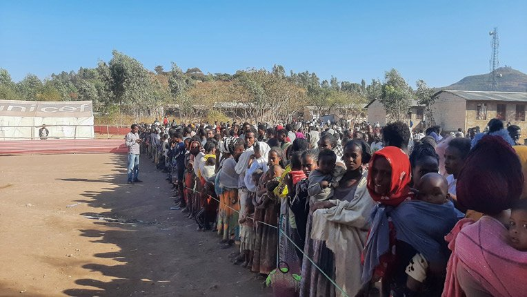 >Hundreds of thousands of displaced people have left rural areas for urban centers in Ethiopia's Tigray region.