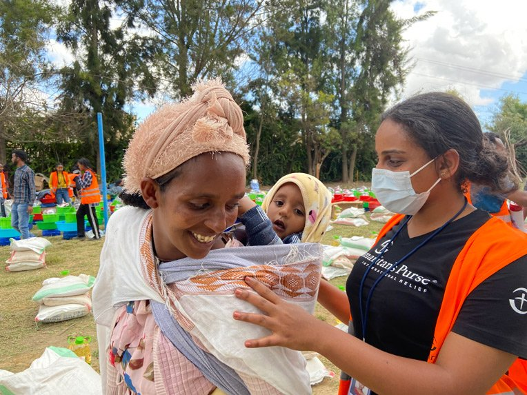 Simret is grateful for help from Samaritan's Purse and is hopeful for peace and to be reunited with her family.