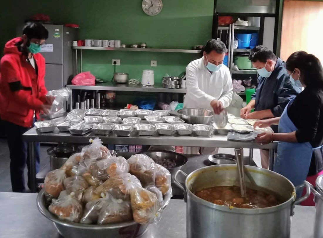 May 13th – Food being prepared for those in isolation to break the chain of COVID-19 transmission