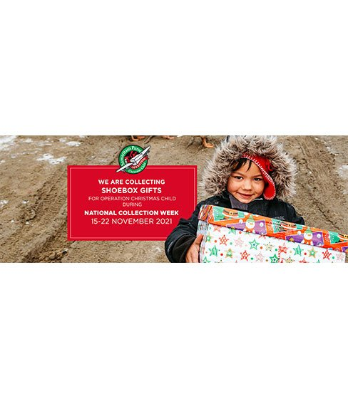 We are collecting shoebox gifts for Operation Christmas Child - Facebook cover photos