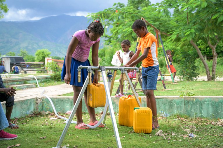 In addition to medical care, we are also providing clean water sources–free of cholera–to communities.