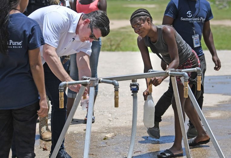 Our water systems are set up in the hard-hit communities of Maniche and Chantal.