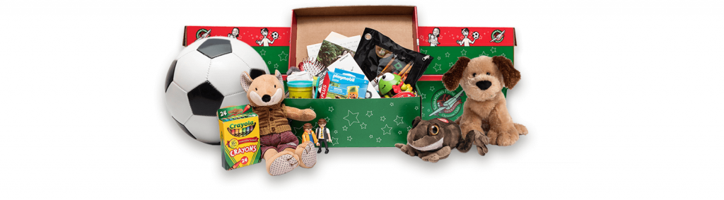 Packed Shoeboxes